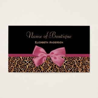 Gold Leopard Fur Chic Mauve Pink Bow Boutique