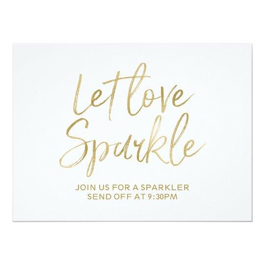 """Gold """"Let love sparkle"""" Sparkler Send Off Sign"""