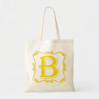 Gold Letter B Canvas Bags