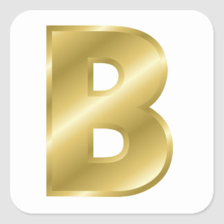B Letter In Gold Custom Gold Letter B S...