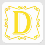 Gold Letter D Stickers