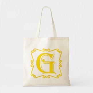 Gold Letter G Bag