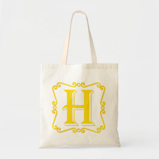 Gold Letter H Tote Bags