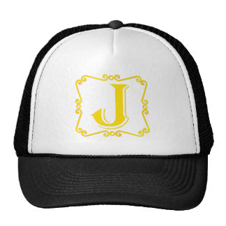 Gold Letter J Hat