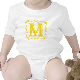 Gold Letter M Rompers