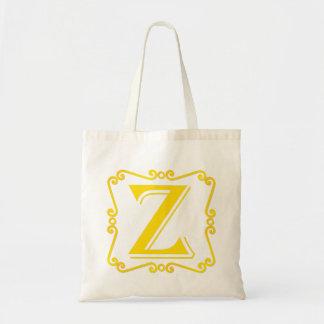 Gold Letter Z Canvas Bag