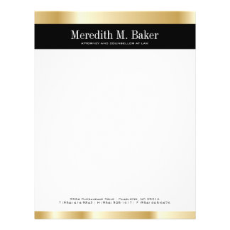 Gold Letterhead Flyer