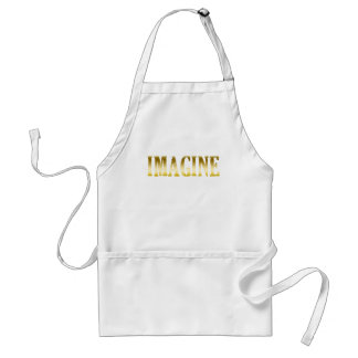 Gold Letters Imagine on T-shirts, Mugs, Gifts Standard Apron