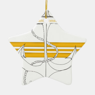 gold lieutenant commander, tony fernandes ceramic star decoration