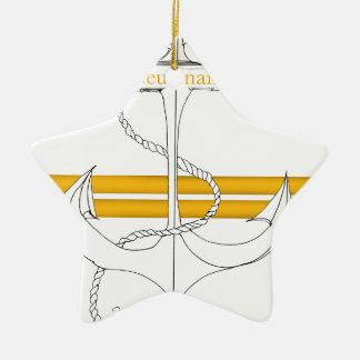 gold lieutenant, tony fernandes ceramic star decoration