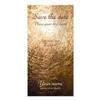 Gold Light 001 Custom Photo Card