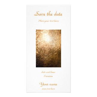 Gold Light 001 Photo Card Template
