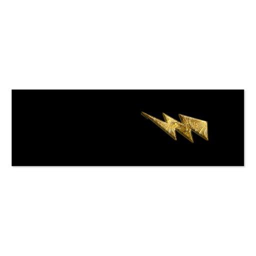 Gold Lightning Bolt Profile Card Pack Of Skinny Business Cards