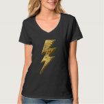 Gold Lightning Bolt Women's Tee Shirt
