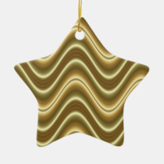 gold lines pattern christmas ornament