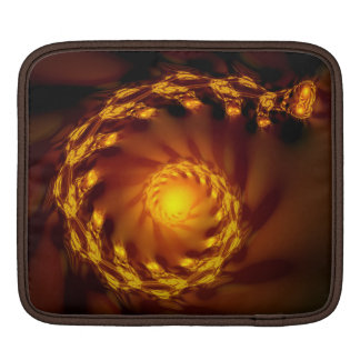 Gold Links Fractal iPad Sleeve