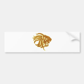 Gold Lion Bumper Sticker