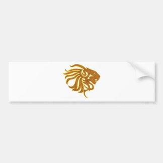 Gold Lion Bumper Stickers