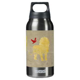Gold Lion Silhouette Liberty Bottle