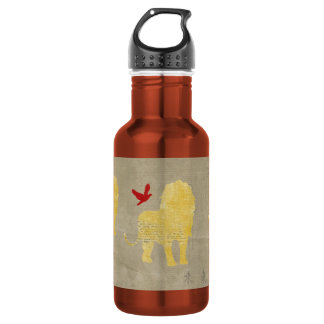 Gold Lion Silhouette Liberty Bottle 532 Ml Water Bottle