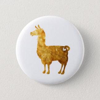 Gold Llama Button