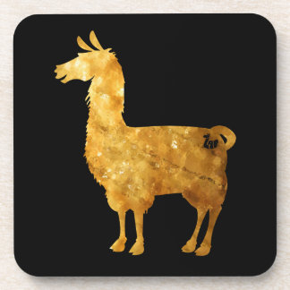 Gold Llama Coasters