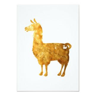 Gold Llama Invitation