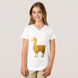 Gold Llama Kids T-Shirt