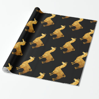 Gold Llama Wrapping Paper