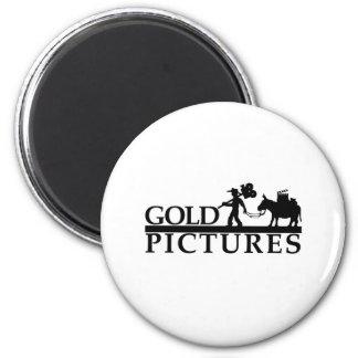 gold logo best new 6 cm round magnet