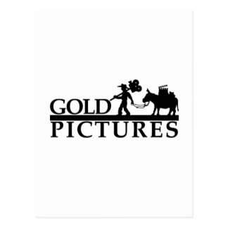 gold logo best new postcard