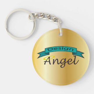 Gold Logo Branded Single Sided Key chain