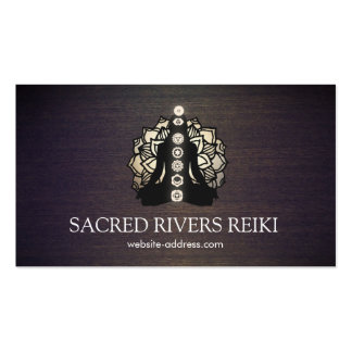 Gold Lotus and Chakras Energy Healer and Yoga Pack Of Standard Business Cards