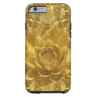 Gold lotus flower Jacqueline Tough iPhone 6 Case