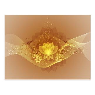Gold Lotus Flower Postcard