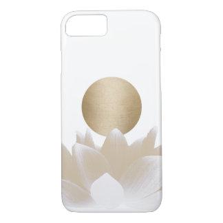 Gold Lotus Flower & Sun Elegant iPhone 8/7 Case