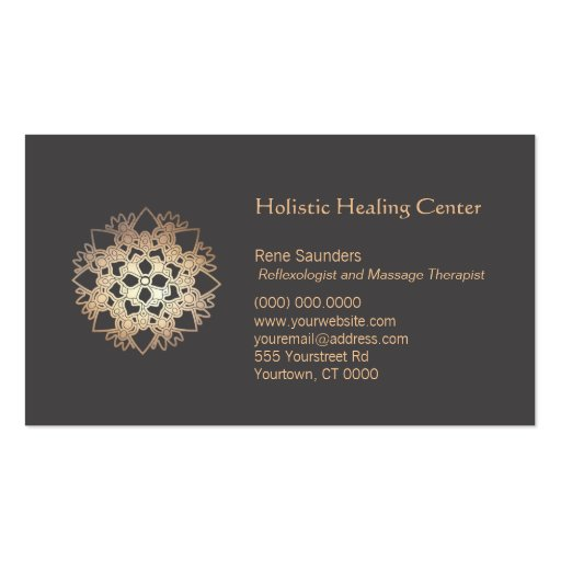 Gold Lotus Holistic Health and Healing Arts Business Card Template