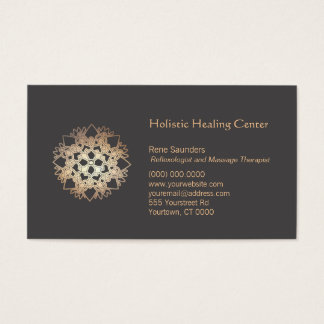 Gold Lotus Holistic Health and Healing Arts Business Card