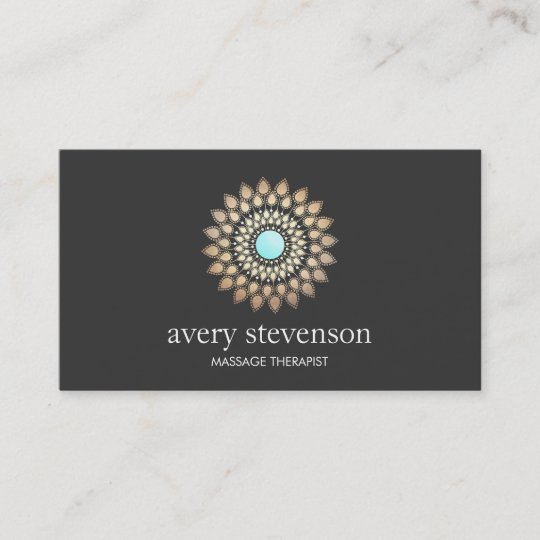 Gold lotus mandala massage therapist and yoga business card zazzle gold lotus mandala massage therapist and yoga business card reheart Gallery