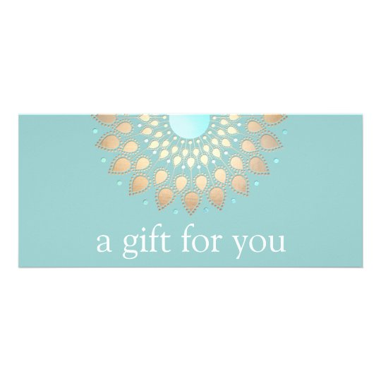 Gold Lotus Mandala Wellness Gift Certificate