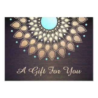 Gold Lotus massage Therapist Gift Certificate Card
