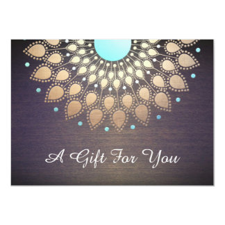 Gold Lotus Salon and Spa Gift Certificate Card