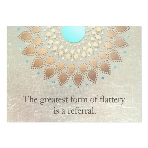 Gold Lotus Yoga and Meditation Referral Card Business Card