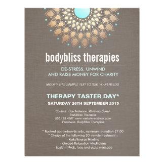Gold Lotus Yoga Holistic Health Therapist 21.5 Cm X 28 Cm Flyer