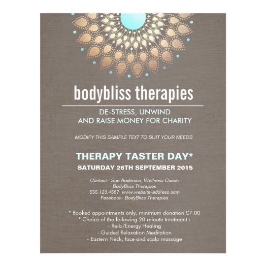 Gold Lotus Yoga Holistic Health Therapist Flyer