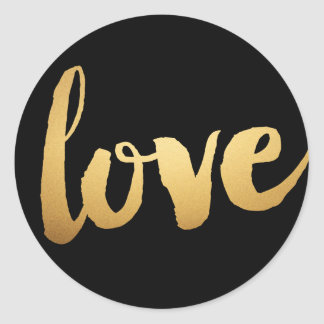 Gold love Stickers