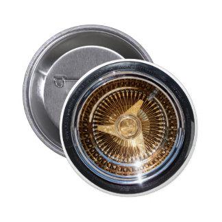 Gold Lowrider Wire Wheels Button