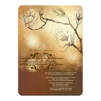 Gold Magnolia Invitation