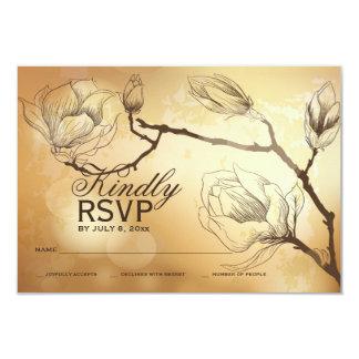 Gold Magnolia Response Card