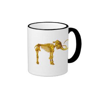 Gold Mammoth Skeleton Ringer Mug